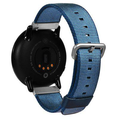 TAMISTER 22mm Wrist Watch Band Strap for HUAMI AmazfitSmart Watch Accessories<br>TAMISTER 22mm Wrist Watch Band Strap for HUAMI Amazfit<br><br>Brand: TAMISTER<br>Compatible with: Huami Amazfit<br>Material: Canvas, Stainless Steel<br>Package Contents: 1 x Strap<br>Package size: 21.50 x 5.80 x 0.30 cm / 8.46 x 2.28 x 0.12 inches<br>Package weight: 0.0340 kg<br>Product size: 21.00 x 2.20 x 0.25 cm / 8.27 x 0.87 x 0.1 inches<br>Product weight: 0.0140 kg
