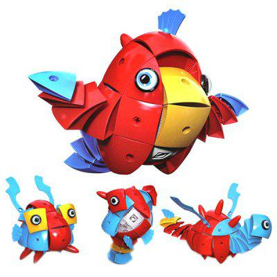 Magic Wisdom Ball Magnetic Deformation Animal Toy Gift  -  RED