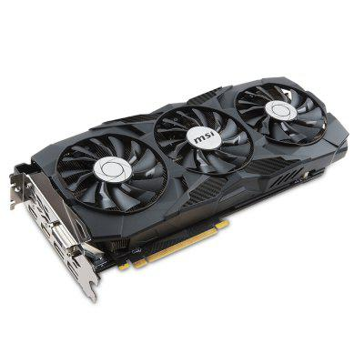 MSI GeForce GTX 1080 Ti DUKE 11G Gaming Graphics CardGraphics &amp; Video Cards<br>MSI GeForce GTX 1080 Ti DUKE 11G Gaming Graphics Card<br><br>Brand: MSI<br>Chipset Manufacturer: NVIDIA<br>CUDA Cores: 3584<br>Engine Clock: 1480GHz<br>Graphics Chipset: Geforce GTX 1080Ti<br>I/O Interface: 1 x DVI, 2 x DP, 2 x HDMI<br>Interface Type: PCI-E 3.0<br>Maximum Resolution: 7680 x 4320<br>Memory Bus Width: 352bit<br>Package size: 35.00 x 20.00 x 5.50 cm / 13.78 x 7.87 x 2.17 inches<br>Package weight: 1.8780 kg<br>Packing List: 1 x Gaming Graphics Card, 1 x Driver Disk, 1 x English User Manual<br>PCI Express Type: PCI-E 3.0<br>Power: 250W<br>Power Interface: 8 + 8Pin<br>Process Technology: 16nm<br>Product size: 32.00 x 14.10 x 4.20 cm / 12.6 x 5.55 x 1.65 inches<br>Product weight: 1.2280 kg<br>Radiator Type: Three Fans<br>Supports System: Win vista, Win XP, Windows 10, Windows 7, Windows 8, Win 2000, Win 2008<br>Video Memory Capacity: 11GB<br>Video Memory Frequency: 11000MHz<br>Video Memory Type: GDDR5X