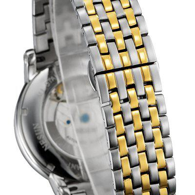 Nesun MS9091 Stainless Steel Band Mechanical Men WatchMens Watches<br>Nesun MS9091 Stainless Steel Band Mechanical Men Watch<br><br>Band material: Stainless Steel<br>Band size: 24 x 2cm<br>Brand: Nesun<br>Case material: Fine steel<br>Clasp type: Butterfly clasp<br>Dial size: 4.1 x 4.1 x 1.2cm<br>Display type: Analog<br>Movement type: Automatic mechanical watch<br>Package Contents: 1 x Watch, 1 x Box, 1 x Free Watch Band Remover<br>Package size (L x W x H): 10.50 x 11.00 x 7.50 cm / 4.13 x 4.33 x 2.95 inches<br>Package weight: 0.2750 kg<br>Product size (L x W x H): 24.00 x 4.10 x 1.20 cm / 9.45 x 1.61 x 0.47 inches<br>Product weight: 0.1950 kg<br>Shape of the dial: Round<br>Watch mirror: Mineral glass<br>Watch style: Fashion<br>Watches categories: Men