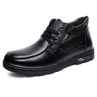 Men Lustrous Business Casual Warmest Ankle-top BootsMens Boots<br>Men Lustrous Business Casual Warmest Ankle-top Boots<br><br>Closure Type: Lace-Up<br>Contents: 1 x Pair of Shoes, 1 x Box<br>Function: Slip Resistant<br>Lining Material: Velvet<br>Materials: Rubber, Velvet, Leather<br>Occasion: Tea Party, Shopping, Office, Holiday, Casual, Party, Daily, Dress, Formal<br>Outsole Material: Rubber<br>Package Size ( L x W x H ): 32.00 x 22.00 x 12.00 cm / 12.6 x 8.66 x 4.72 inches<br>Package weight: 0.8500 kg<br>Pattern Type: Solid<br>Product weight: 0.8000 kg<br>Seasons: Autumn,Winter<br>Style: Modern, Business, Casual, Comfortable, Fashion, Formal, Leisure<br>Toe Shape: Round Toe<br>Type: Boots<br>Upper Material: Leather