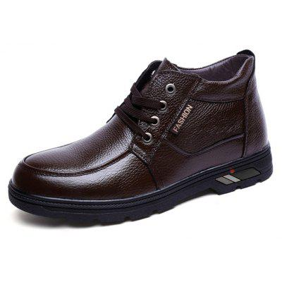Men Lustrous Business Casual Warmest Ankle-top BootsMens Boots<br>Men Lustrous Business Casual Warmest Ankle-top Boots<br><br>Closure Type: Lace-Up<br>Contents: 1 x Pair of Shoes, 1 x Box<br>Function: Slip Resistant<br>Lining Material: Velvet<br>Materials: Rubber, Velvet, Leather<br>Occasion: Tea Party, Shopping, Office, Holiday, Casual, Party, Daily, Dress, Formal<br>Outsole Material: Rubber<br>Package Size ( L x W x H ): 32.00 x 22.00 x 12.00 cm / 12.6 x 8.66 x 4.72 inches<br>Package weight: 1.0770 kg<br>Pattern Type: Solid<br>Product weight: 0.8000 kg<br>Seasons: Autumn,Winter<br>Style: Modern, Business, Casual, Comfortable, Fashion, Formal, Leisure<br>Toe Shape: Round Toe<br>Type: Boots<br>Upper Material: Leather