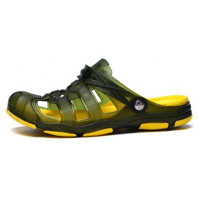 Men Ultralight Hollow Crash Toe Soft SlippersMens Sandals<br>Men Ultralight Hollow Crash Toe Soft Slippers<br><br>Closure Type: Slip-On<br>Contents: 1 x Pair of Shoes, 1 x Bag<br>Decoration: Hollow Out<br>Function: Slip Resistant<br>Materials: TPU, MD<br>Occasion: Casual, Beach, Outdoor Clothing, Rainy Day, Holiday<br>Outsole Material: MD<br>Package Size ( L x W x H ): 28.00 x 18.00 x 8.00 cm / 11.02 x 7.09 x 3.15 inches<br>Package weight: 0.4200 kg<br>Product weight: 0.4000 kg<br>Seasons: Spring,Summer<br>Style: Modern, Leisure, Fashion, Comfortable, Casual<br>Toe Shape: Round Toe<br>Type: Slippers<br>Upper Material: TPU