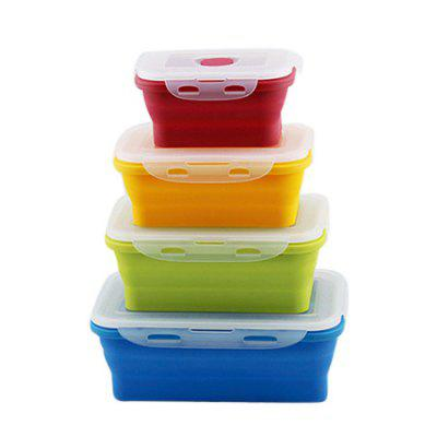Outdoor Portable Sealed Silicone Food Container 4pcs
