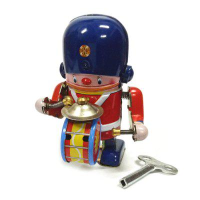 MS407 - 3 Nostalgic Iron Sheet Band Drummer Toy