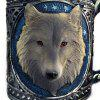 450ml 3D Wolf Head Design Mug Resin Stainless Steel Cup - COLORMIX