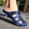 Men Ultralight Hollow Crash Toe Soft Slippers - DEEP BLUE
