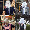 Animal Latex Halloween Mask Toy - BLANCO