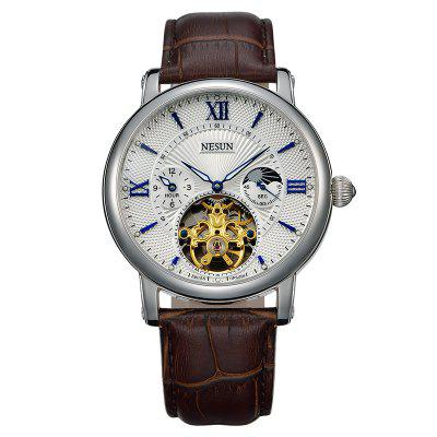 Nesun MN9091 Leather Band Mechanical Men Watch