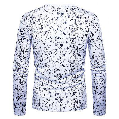 T-shirt with Dots and Wings MotifsMens Long Sleeves Tees<br>T-shirt with Dots and Wings Motifs<br><br>Material: Cotton, Polyester<br>Neckline: Round Neck<br>Package Content: 1 x T-shirt<br>Package size: 40.00 x 30.00 x 4.00 cm / 15.75 x 11.81 x 1.57 inches<br>Package weight: 0.2500 kg<br>Product weight: 0.2300 kg<br>Season: Spring, Autumn<br>Sleeve Length: Long Sleeves<br>Style: Casual