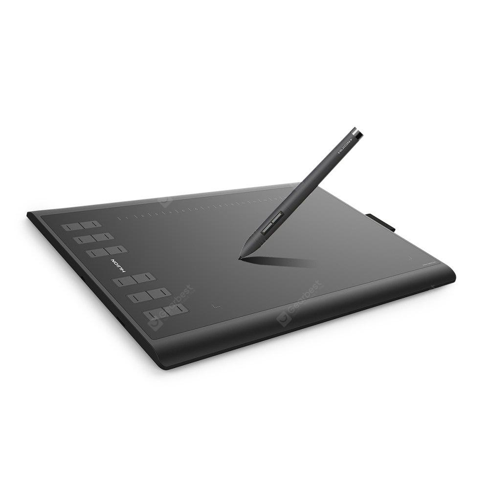 HUION New 1060 Plus 8192 Levels Digital Drawing Tablets - BLACK 2