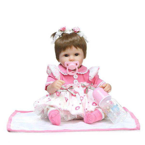 NPK Emulate Reborn Baby Doll Stuffed Toy fyrir Kids - COLORMIX
