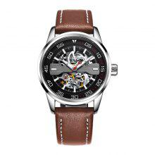 OCHSTIN 62002 Leather Band Men Mechanical Watch