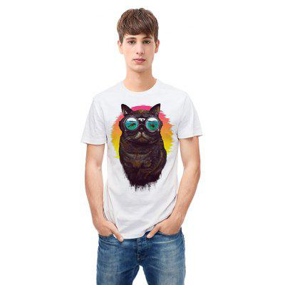 Mr 1991 INC Miss Go T-shirt with Cool Cat Motif