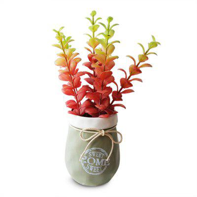 LmDec 18FZH02 Artificial Red Leaves Home Office Decoration