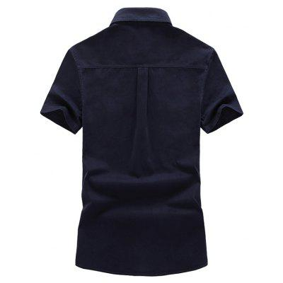 CTSmart Classic Short Sleeves ShirtMens Shirts<br>CTSmart Classic Short Sleeves Shirt<br><br>Brand: CTSmart<br>Closure Type: Button<br>Material: Cotton<br>Occasion: Casual<br>Package Contents: 1 x Shirt<br>Package size: 26.00 x 20.00 x 1.00 cm / 10.24 x 7.87 x 0.39 inches<br>Package weight: 0.4700 kg<br>Product weight: 0.4500 kg<br>Style: Casual<br>Thickness: Regular