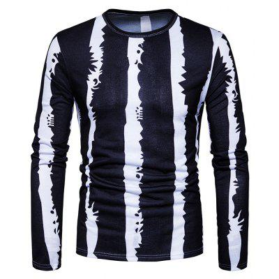 Stripe Motifs Long Sleeves T-shirt