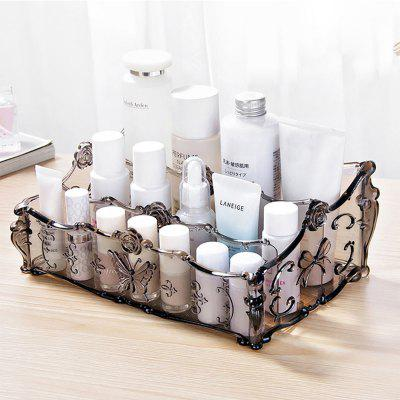 Retro Flower Pattern Cosmetic Storage Box