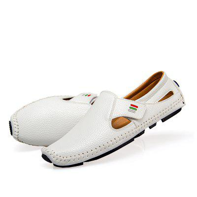 Loafers Casual Driving Hollow Out for MenFlats &amp; Loafers<br>Loafers Casual Driving Hollow Out for Men<br><br>Contents: 1 x Pair of Shoes, 1 x Box, 1 x Dustproof Paper<br>Decoration: Hollow Out<br>Lining Material: PU<br>Materials: Microfiber Leather, Rubber<br>Occasion: Casual, Daily<br>Outsole Material: Rubber<br>Package Size ( L x W x H ): 33.00 x 24.00 x 13.00 cm / 12.99 x 9.45 x 5.12 inches<br>Package weight: 0.8000 kg<br>Product weight: 0.6000 kg<br>Seasons: Summer<br>Style: Casual<br>Type: Flat Shoes<br>Upper Material: Microfiber Leather