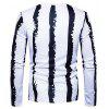 Stripe Motifs Long Sleeves T-shirt - WHITE