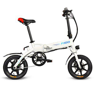 FIIDO D1 Folding Electric Bike 7.8Ah Battery Moped BicycleElectric Bikes<br>FIIDO D1 Folding Electric Bike 7.8Ah Battery Moped Bicycle<br><br>Braking System: Disc Brake<br>Brand: FIIDO<br>Frame material: Aluminum Alloy<br>Package Content: 1 x FIIDO Electric Bike, 1 x Hexagon Wrench, 1 x Multifunctional Wrench, 1 x Charger<br>Package size: 81.00 x 40.00 x 60.00 cm / 31.89 x 15.75 x 23.62 inches<br>Package weight: 22.0000 kg<br>Product size: 130.00 x 58.00 x 95.00 cm / 51.18 x 22.83 x 37.4 inches<br>Product weight: 18.0000 kg<br>Type: Electric Bicycle<br>Wheel Size: 14 inches