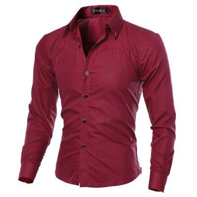 CTSmart Classic Diamond Lattice ShirtMens Shirts<br>CTSmart Classic Diamond Lattice Shirt<br><br>Brand: CTSmart<br>Closure Type: Button<br>Material: Polyester<br>Occasion: Casual<br>Package Contents: 1 x Shirt<br>Package size: 35.00 x 30.00 x 1.00 cm / 13.78 x 11.81 x 0.39 inches<br>Package weight: 0.3100 kg<br>Product weight: 0.2800 kg<br>Thickness: Regular