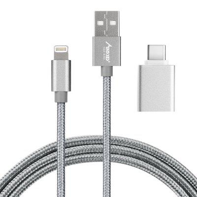 MAD GIGA 3.5mm 8 Pin Cable and Type C Mini Adapter USB 3.0
