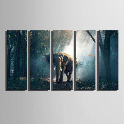E - HOME Prints Elephant Modern Sin enmarcar Wall Art 5PCS