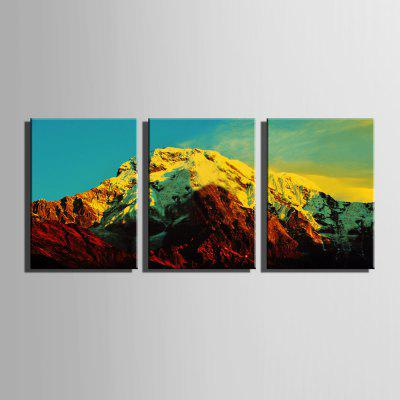 E - HOME Prints Snow Mountain Arte de pared de alta definición 3PCS