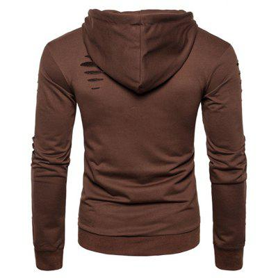 Fashion Ripped Hoodie JacketMens Hoodies &amp; Sweatshirts<br>Fashion Ripped Hoodie Jacket<br><br>Closure Type: Zipper<br>Clothes Type: Hoodie Jacket<br>Material: Cotton, Polyester<br>Occasion: Casual<br>Package Contents: 1 x Hoodie Jacket<br>Package size: 30.00 x 25.00 x 3.00 cm / 11.81 x 9.84 x 1.18 inches<br>Package weight: 0.4400 kg<br>Pattern: Solid Color<br>Product weight: 0.4200 kg<br>Thickness: Regular