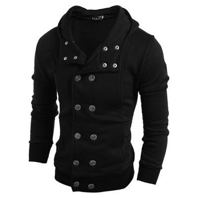 Double Breasted Hooded Jacket