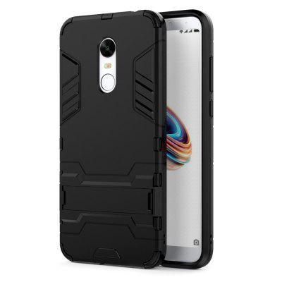 Luanke Anti-shock Protective Cover CaseCases &amp; Leather<br>Luanke Anti-shock Protective Cover Case<br><br>Brand: Luanke<br>Features: Anti-knock, Back Cover, Cases with Stand, Dirt-resistant<br>Mainly Compatible with: Xiaomi<br>Material: TPU, PC<br>Package Contents: 1 x Case<br>Package size (L x W x H): 21.00 x 12.00 x 2.20 cm / 8.27 x 4.72 x 0.87 inches<br>Package weight: 0.0350 kg<br>Product Size(L x W x H): 16.00 x 7.85 x 1.00 cm / 6.3 x 3.09 x 0.39 inches<br>Product weight: 0.0220 kg<br>Style: Modern