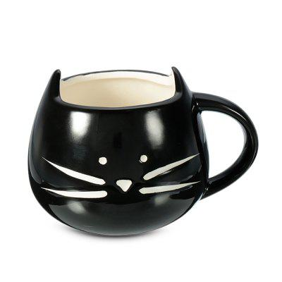 HESSION 400ml Creative Ceramic Cat Coffee Mug Water Milk Cup