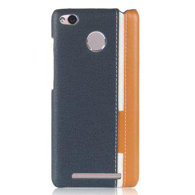 LuanKe Mixed Color PU Leather + PC Stripe Patchwork Case