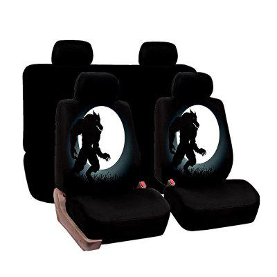 Universal Werewolf Pattern Car Seat Covers 8pcs
