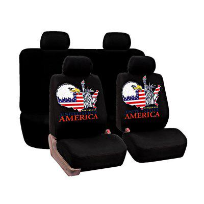 Универсальная статуя Liberty Pattern Car Seat Covers 8pcs