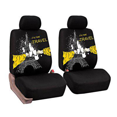 Universal Eiffel Tower Pattern Car Seat Covers 8pcs