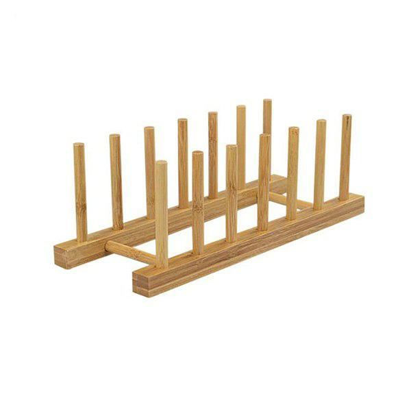 6-grid Bamboo Kitchen Shelves Storage Rack