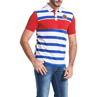 FREDD MARSHALL Stripe Motifs Polo ShirtMens Short Sleeve Tees<br>FREDD MARSHALL Stripe Motifs Polo Shirt<br><br>Brand: FREDDMARSHALL<br>Material: Cotton<br>Neckline: Turn-down Collar<br>Package Content: 1 x Polo Shirt<br>Package size: 30.00 x 30.00 x 2.00 cm / 11.81 x 11.81 x 0.79 inches<br>Package weight: 0.2700 kg<br>Pattern Type: Striped<br>Product weight: 0.2500 kg<br>Season: Summer<br>Sleeve Length: Short Sleeves<br>Style: Casual