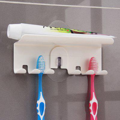 ORZ Toothbrush Holder Wall Mount Magic Sticker Bathroom Family Tooth brush Set Wall Stand Toothpaste Placed Storage Hol