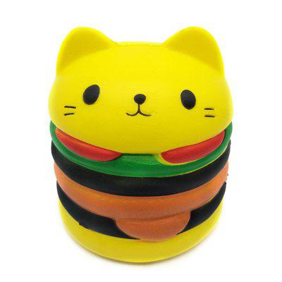 Squishy Squeeze Stress Relief Spielzeug emulieren Cat Hamburger