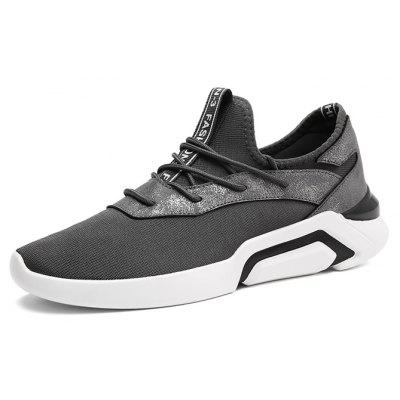 Men Versatile Ultralight Tensile Casual Stylish Athletic ShoesAthletic Shoes<br>Men Versatile Ultralight Tensile Casual Stylish Athletic Shoes<br><br>Closure Type: Lace-Up<br>Contents: 1 x Pair of Shoes, 1 x Box<br>Function: Slip Resistant<br>Materials: Rubber, Knitted Fabric<br>Occasion: Sports, Shopping, Riding, Party, Casual, Running, Daily, Holiday, Outdoor Clothing<br>Outsole Material: Rubber<br>Package Size ( L x W x H ): 30.00 x 20.00 x 10.00 cm / 11.81 x 7.87 x 3.94 inches<br>Package weight: 0.7500 kg<br>Product weight: 0.7000 kg<br>Seasons: Autumn,Spring<br>Style: Modern, Leisure, Fashion, Comfortable, Casual<br>Toe Shape: Round Toe<br>Type: Sports Shoes<br>Upper Material: Knitted Fabric