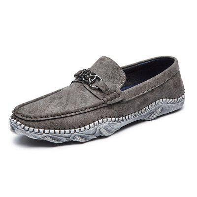 Men Soft Driving Metal Decor Washed Vamp Flat LoafersFlats &amp; Loafers<br>Men Soft Driving Metal Decor Washed Vamp Flat Loafers<br><br>Closure Type: Slip-On<br>Contents: 1 x Pair of Shoes, 1 x Box, 1 x Dustproof Paper<br>Function: Slip Resistant<br>Lining Material: Pigskin<br>Materials: Microfiber, Pigskin, Rubber<br>Occasion: Tea Party, Shopping, Party, Office, Casual, Daily, Holiday<br>Outsole Material: Rubber<br>Package Size ( L x W x H ): 33.00 x 24.00 x 13.00 cm / 12.99 x 9.45 x 5.12 inches<br>Package weight: 0.9000 kg<br>Product weight: 0.7000 kg<br>Seasons: Autumn,Spring<br>Style: Modern, Leisure, Fashion, Comfortable, Casual<br>Toe Shape: Round Toe<br>Type: Flat Shoes<br>Upper Material: Microfiber