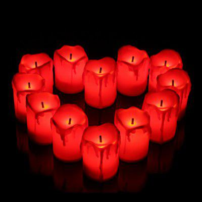 HESSION Romantic Wedding Party LED Candles Light 12pcs