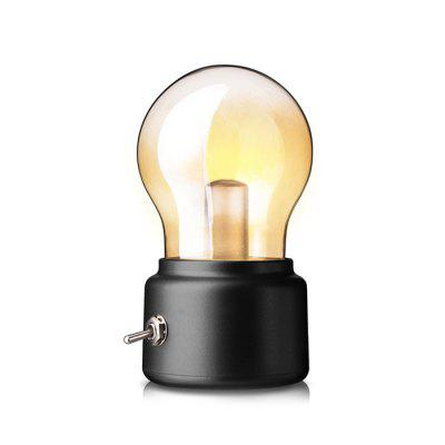 Rechargeable USB Toggle Switch Mini Bulb Night LampDecorative Lights<br>Rechargeable USB Toggle Switch Mini Bulb Night Lamp<br><br>Material: ABS, Glass<br>Package Contents: 1 x Bulb Lamp, 1 x USB Cable<br>Package size (L x W x H): 13.50 x 9.50 x 9.50 cm / 5.31 x 3.74 x 3.74 inches<br>Package weight: 0.1500 kg<br>Product size (L x W x H): 11.00 x 7.00 x 6.00 cm / 4.33 x 2.76 x 2.36 inches<br>Product weight: 0.0900 kg