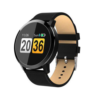 Gearbest NEWWEAR Q8 Smart Watch - BLACK Blood Oxygen / Sleep / Heart Rate Monitor Information Push