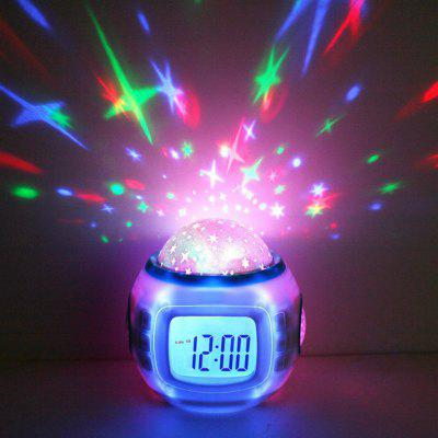 Star Projection Multifunction Music Alarm Clock