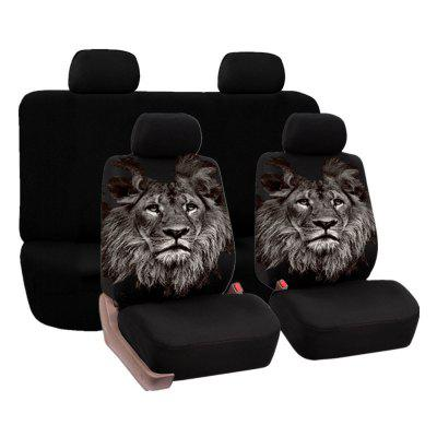 Universal Lion Pattern Car Seat Covers 4PCS