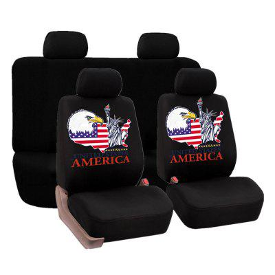 Universal Statue of Liberty Pattern Car Seat Covers 4PCS