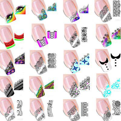 Water-resistant Transfer Nails Stickers Tattoo Decal Set